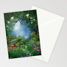 Enchanted Summer Night Stationery Cards