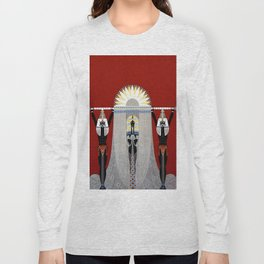 """The Egyptian"" Art Deco Illustration Long Sleeve T-shirt"