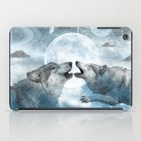 wolves iPad Cases featuring Wolves by haroulita