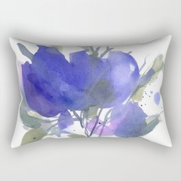 Bluest Blue Bloom Rectangular Pillow