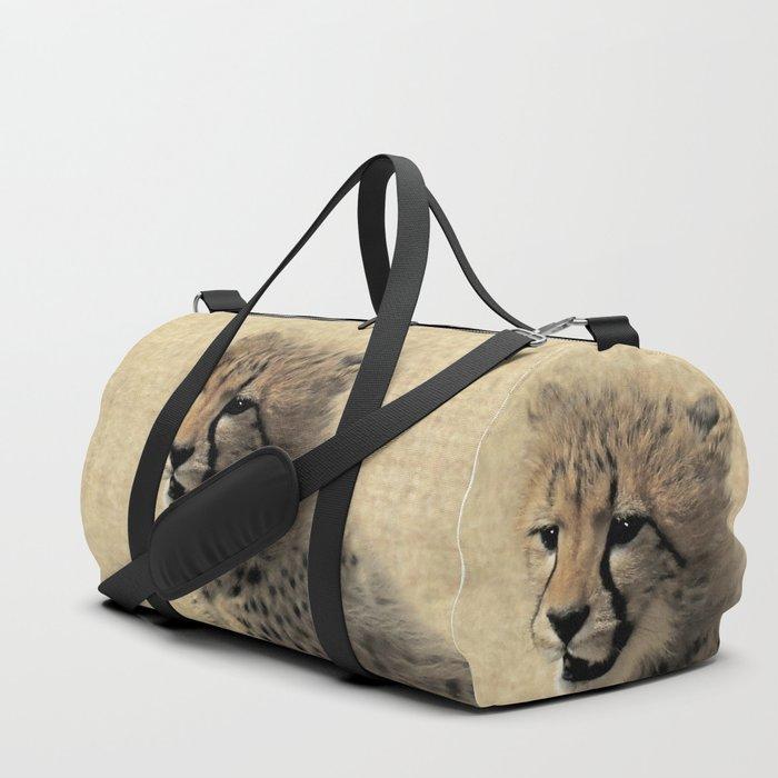Cheetah cub Duffle Bag