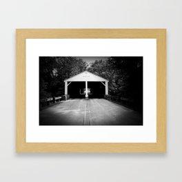 B&W Bridge Framed Art Print