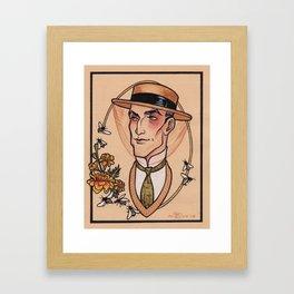 Sherlock Holmes in Retirement Framed Art Print