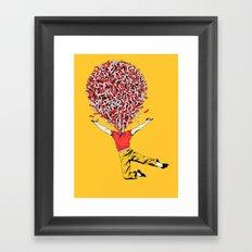 Jelly dance Framed Art Print