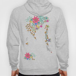 Vibrant Floral to Floral Hoody