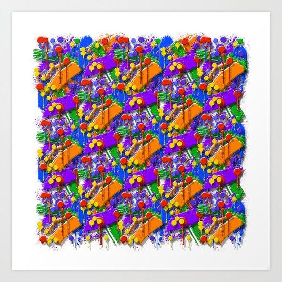 The Big O (Drip Porn Pattern) Art Print
