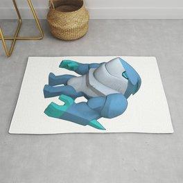Ice Shark CG Character Rug