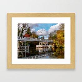 Autumn Colours At Whitchurch Bridge Framed Art Print