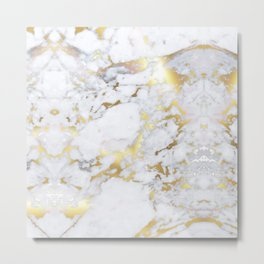 Original Gold Marble Metal Print