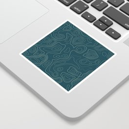 Topographic Map 03A Sticker