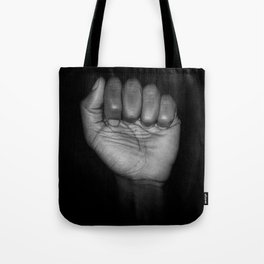 Fists of Rebellion Black and White Art Photographic Print Tote Bag
