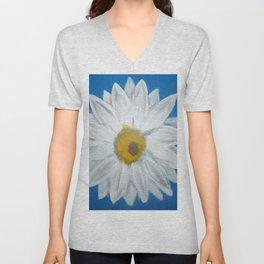 Egyptian Blue Daisy Unisex V-Neck
