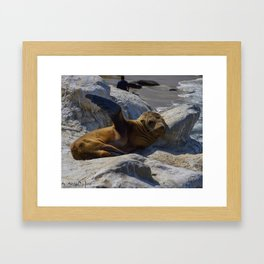 Just Kickin It Framed Art Print