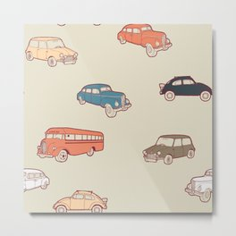 Retro cars. Metal Print