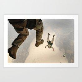 Parachuting sky 3 Art Print