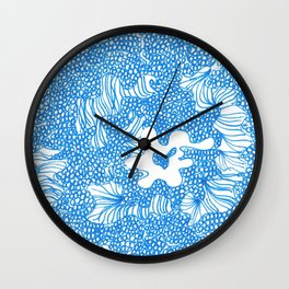 March's Blue 9 | Artline Drawing Pens Sketch Wall Clock