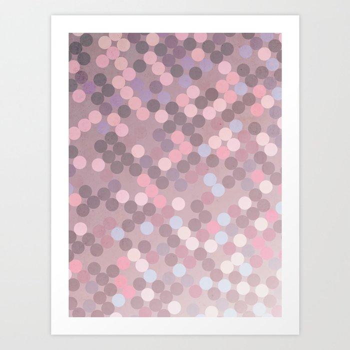 Polka Dots Geometry Art Print
