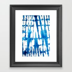 Shibori Lines Framed Art Print