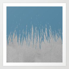 Concrete Fringe Blue Art Print