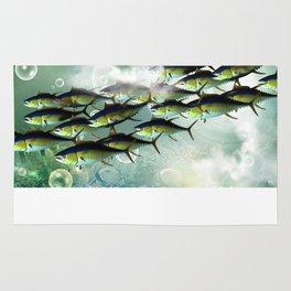 Fish shoal Rug
