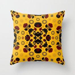 Fiesta Folk Yellow #society6 #folk Throw Pillow
