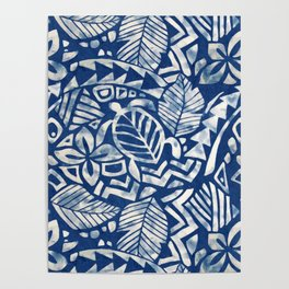Hawaiian tribal pattern Poster