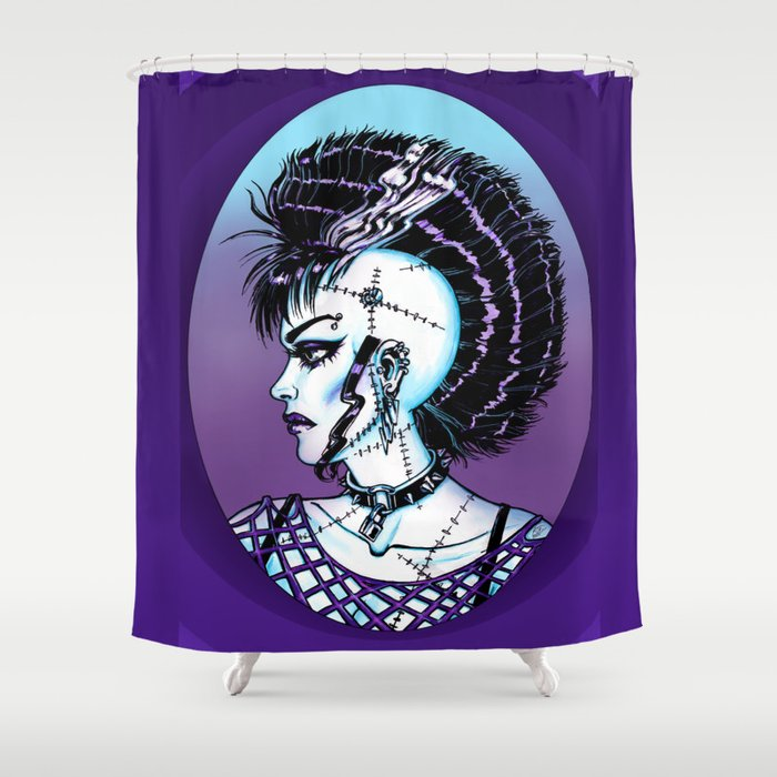Punk Rock Girl Shower Curtain By Eeriette