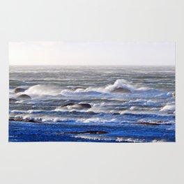 Wind Blown Stormy Seas Rug