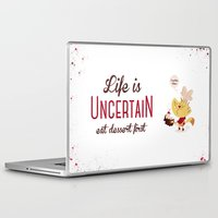 dessert Laptop & iPad Skins featuring Dessert First by Doud
