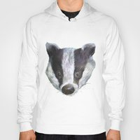 badger Hoodies featuring Badger! by Alison Jacobs