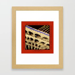 The Dreaded Aqueduct Framed Art Print