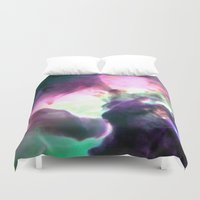 nebula Duvet Covers featuring Pastel nebULa by 2sweet4words Designs