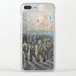 The Round of the Prisoners (after Doré) - Van Gogh Clear iPhone Case