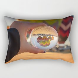 A Clearer View refraction photgraphy hot air balloons Rectangular Pillow