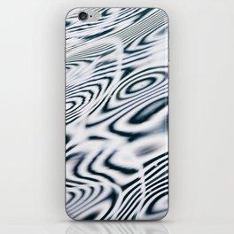 Black and White Water Swirls iPhone Skin