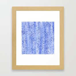 Blue Spray and Flecks Framed Art Print