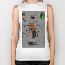 NATURE LOVERS BEETLE BUG COLLECTION ART Biker Tank