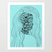 Patterned Face Art Print