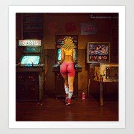 """Raid the Arcade"" [Pixel Art] Art Print"