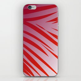 tiger wild lines pink  red -- SUNSET iPhone Skin