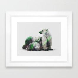 Arctic Polar Bear Family Framed Art Print