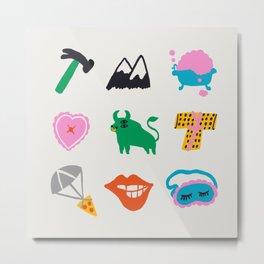 Taurus Emoji Metal Print