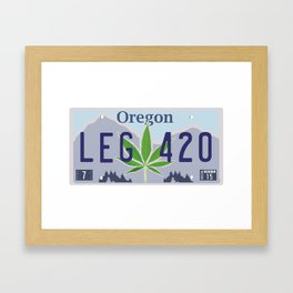 Oregon Legal Weed Framed Art Print