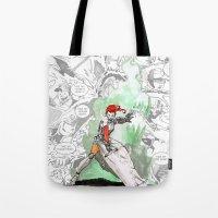 abigail larson Tote Bags featuring Abigail by Matt Welch