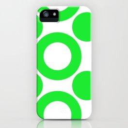 Dot 2 Green iPhone Case