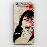 the shining iPhone & iPod Skins featuring Shining by SeanAndOnAndOn