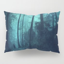 Light in a cyan forest Pillow Sham