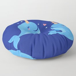 Sweet Narwhales Floor Pillow