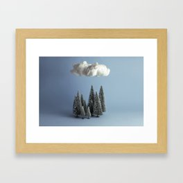 A cloud over the forest Framed Art Print