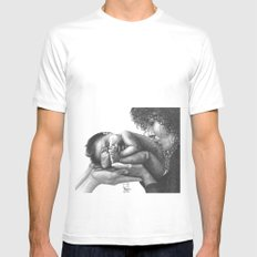 Wonder of Life  MEDIUM White Mens Fitted Tee